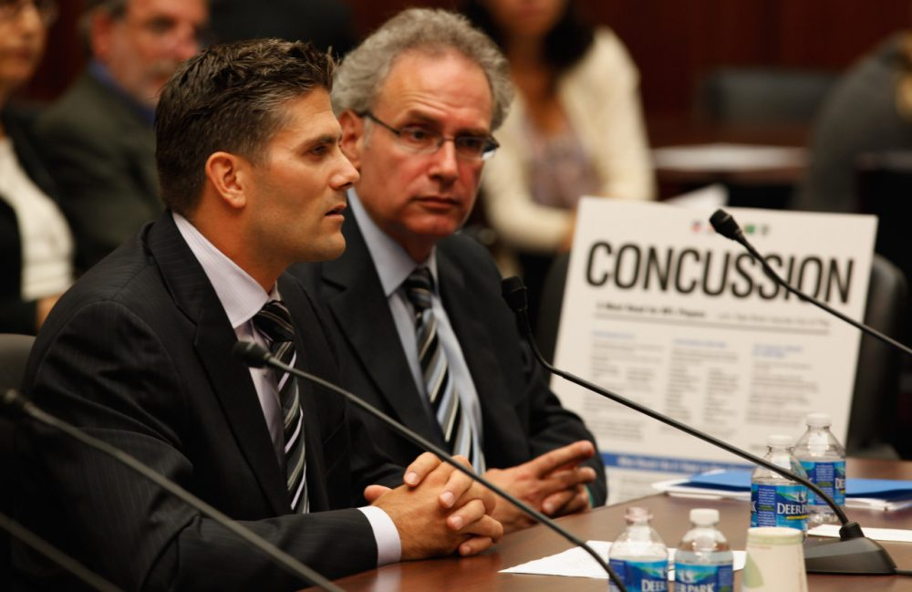 Sean Morey, former NFL athlete and current executive board member for the NFL Players' Association, is one of the ex-players involved in the effort to intervene in the ongoing concussion lawsuit. (Chip Somodevilla/Getty Images)
