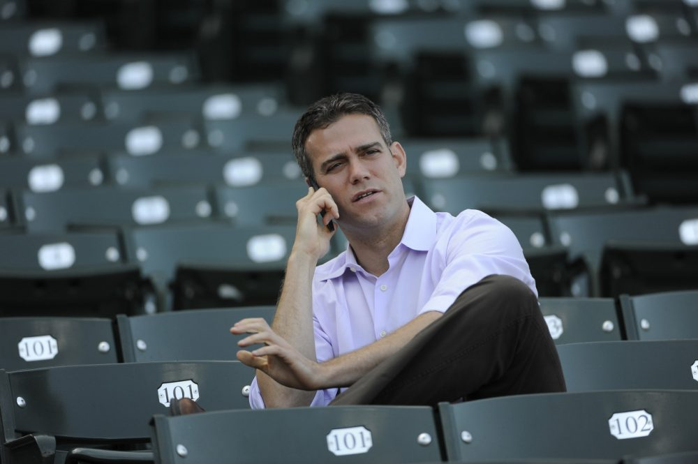 Chicago Cubs President of Baseball Operations wasn't too happy with the way MLB's competitive balance lottery played out. (David Banks/Getty Images)