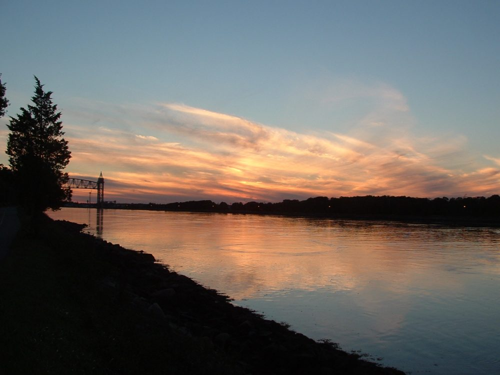 The Cape Cod Canal, at left, marks its 100th birthday. (Cape Cod Cyclist via Flickr)