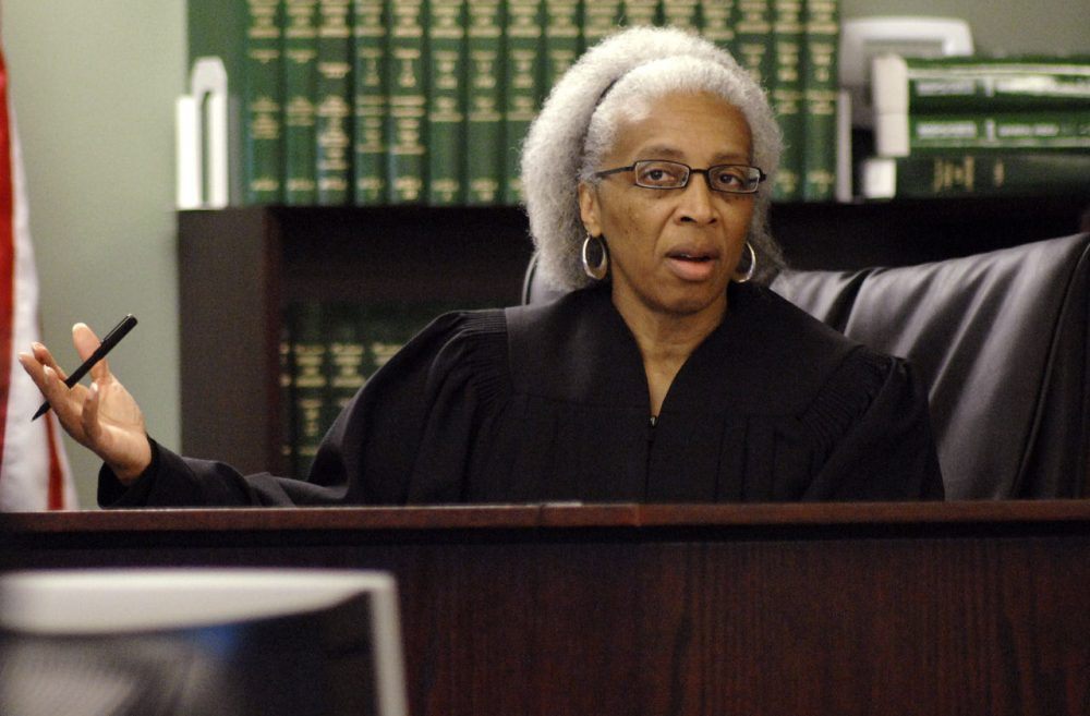 udge Geraldine Hines, seen here presiding over a trial in 2008, will be sworn in on Thursday as an associate justice on the state's highest court. (Josh Reynolds/AP)