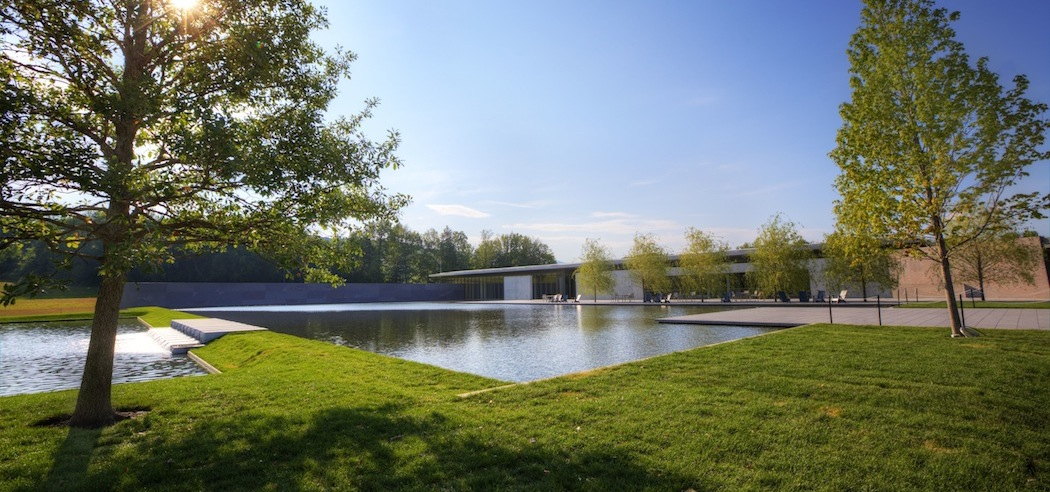 The Clark Art Institute's new entrance and reflecting pool. (Tucker Bair)