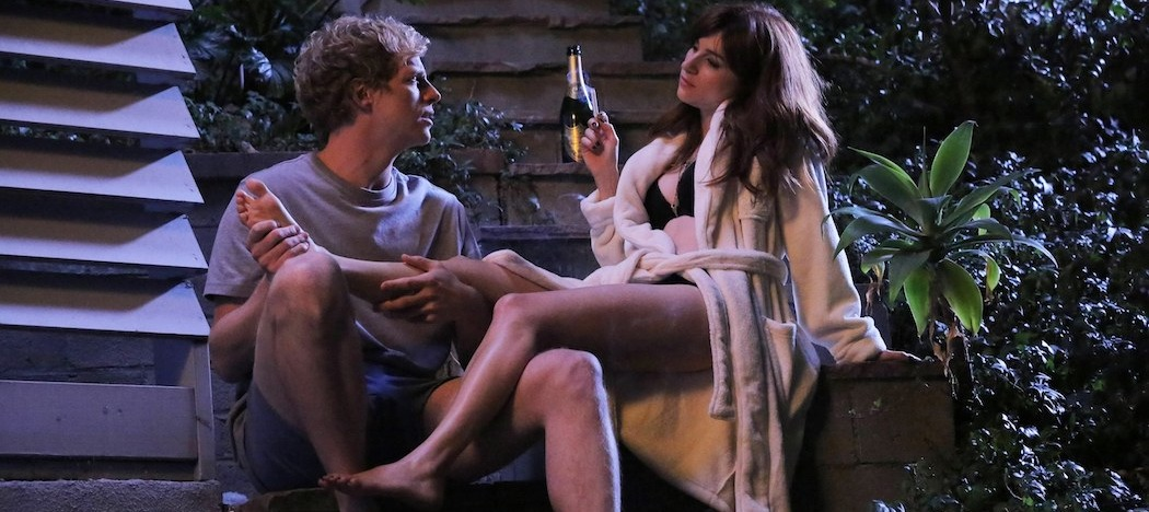 "Chris Geere and Aya Cash in ""You're the Worst."" (Byron Cohen/FX)"