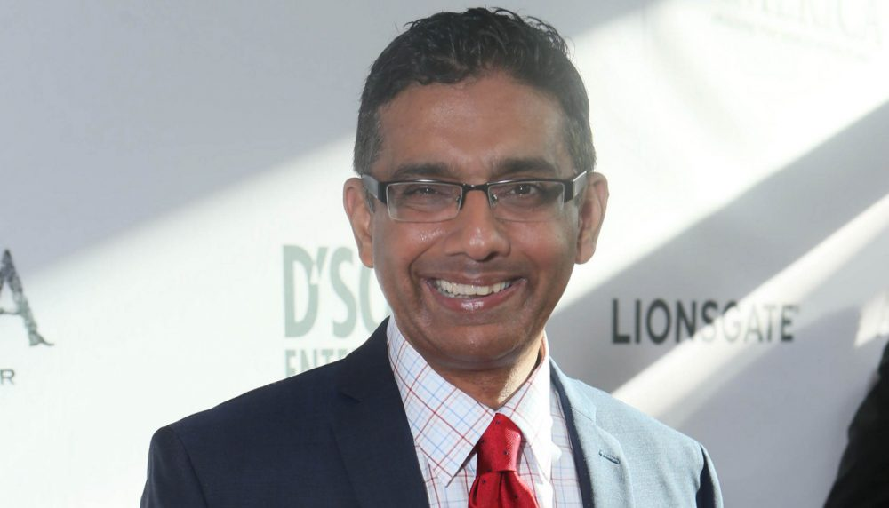 Writer/Exec. Producer/Co-Director Dinesh D'Souza seen at the World Premiere of 'America: Imagine The World Without Her' at Regal Cinemas LA Live on Monday, June 30, 2014, in Los Angeles, CA.  (AP)