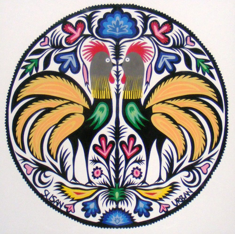 One of Susan Urban's papercut rooster designs. (Susan Urban)
