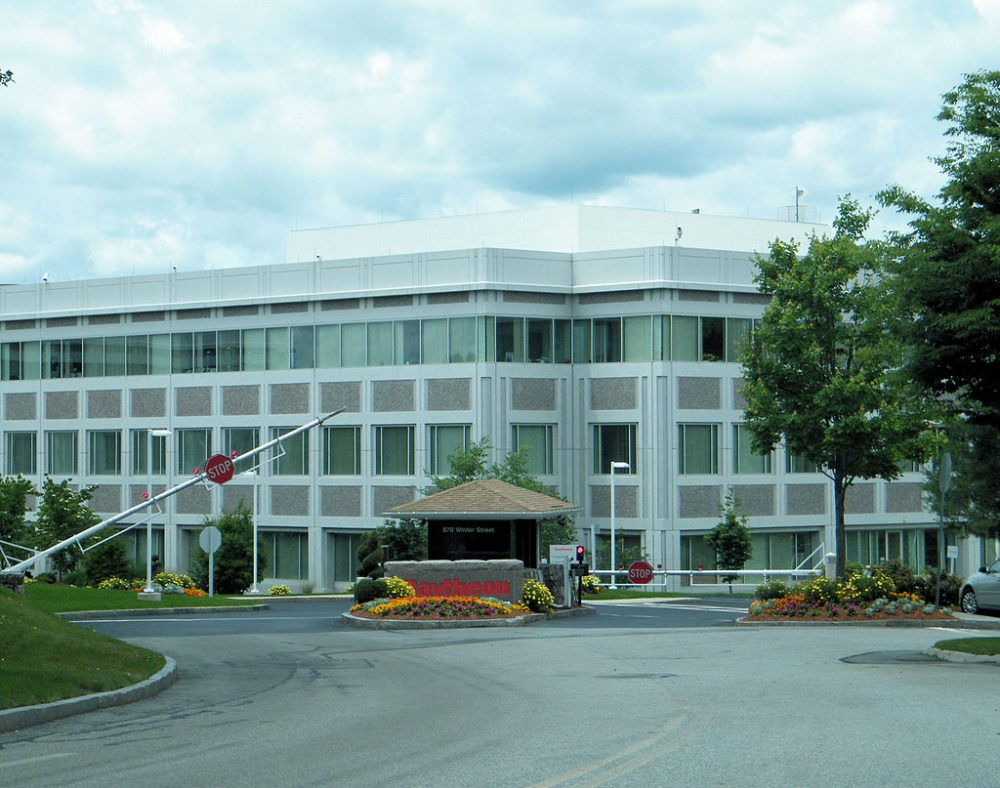 Raytheon headquarters in Waltham (Wikimedia Commons)