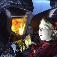 """Corey Stoll as Ephraim Goodweather examines one of the victims on a  """"dead"""" plane in """"The Strain."""" (Michael Gibson/FX)"""