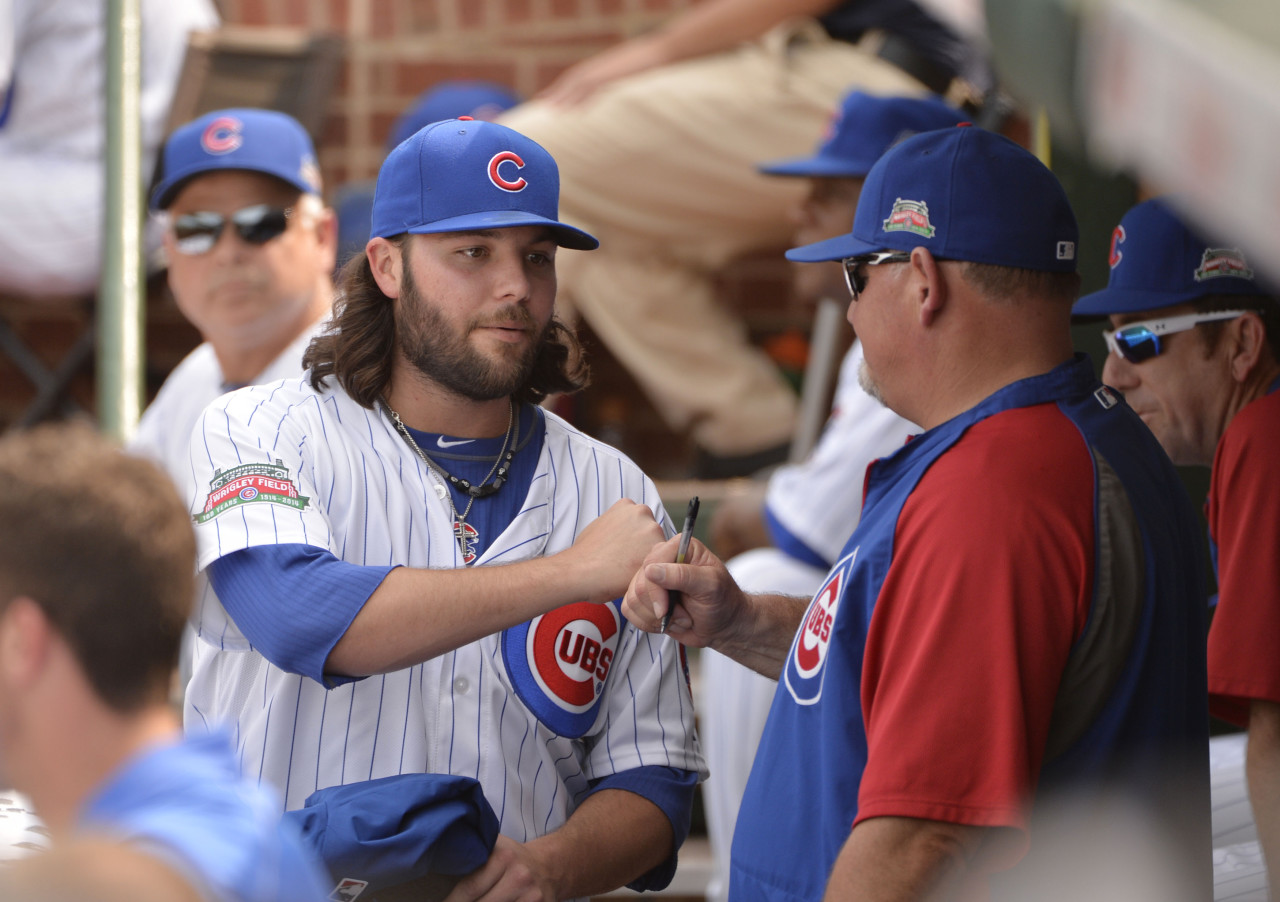 Chicago Cubs' relief pitcher James Russell was one of nearly 40 MLB players who said goodbye to their teams on Deadline Day. (Brian Kersey/Getty Images)
