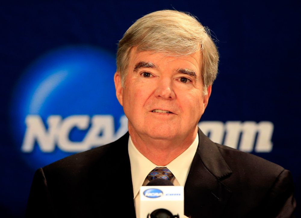NCAA President Mark Emmert and other board members have agreed to give more autonomy to the 'Big Five' conferences, a change that could make many schools less competitive. (Jamie Squire/Getty Images)