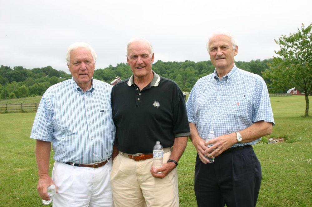 Hugh Stallard, Glen Thomas and Cliff Thomas, three members of the 'Shoeless Wonders' football team at (Alexandra Hall)