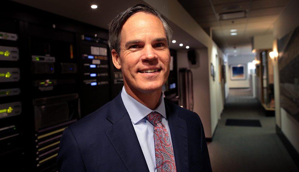Independent gubernatorial candidate Jeff McCormick in WBUR's studios. (Robin Lubbock/WBUR)