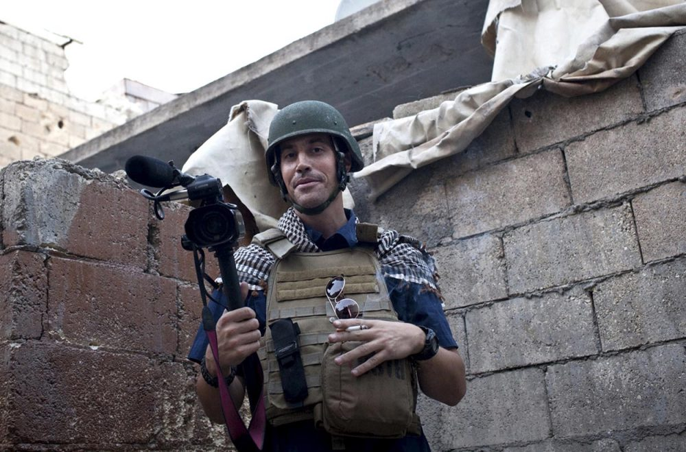 This November 2012 file photo shows missing journalist James Foley while covering the civil war in  Syria. (freejamesfoley.org via AP)