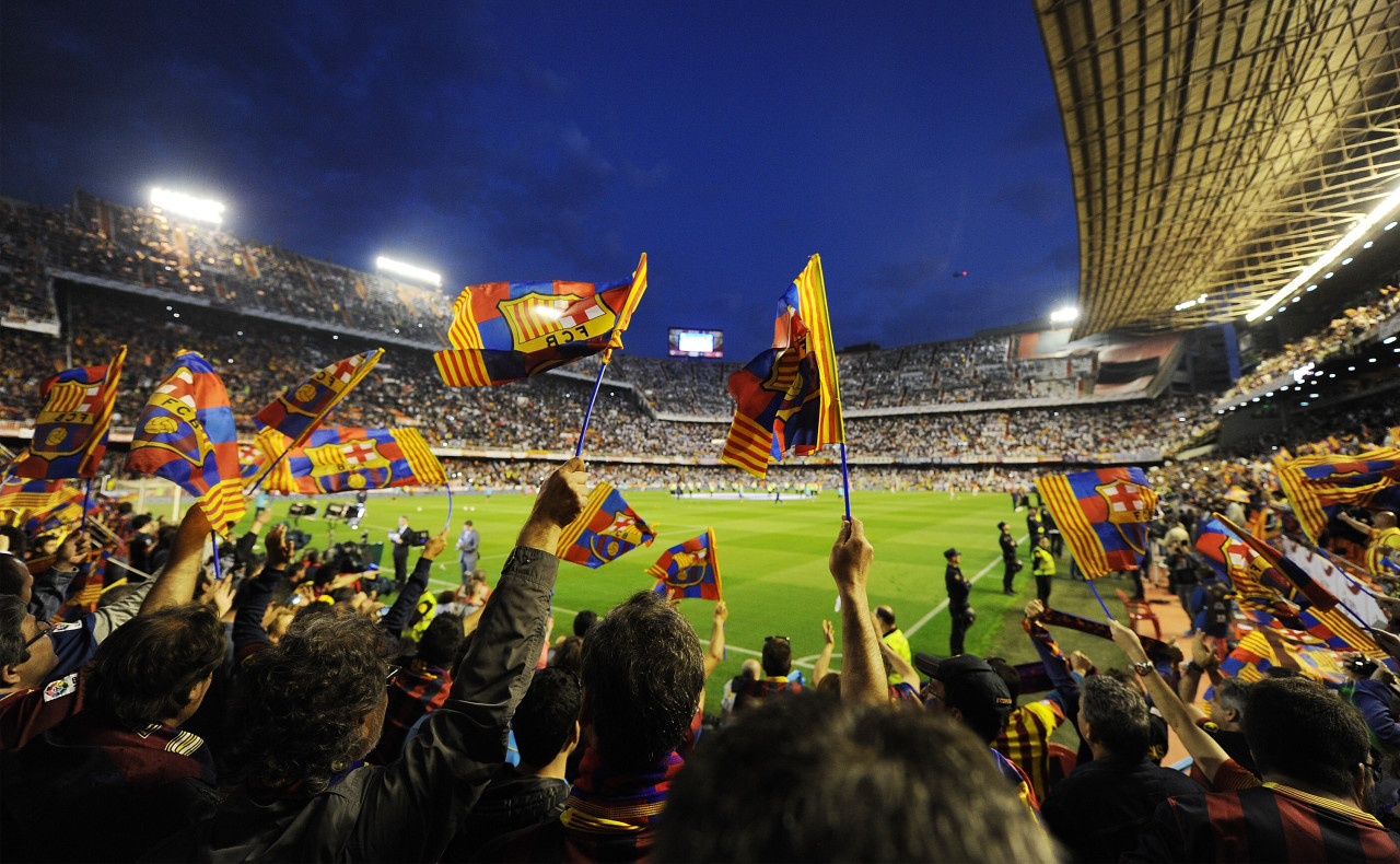 Spanish clubs Real Madrid and Barcelona are doing just fine, but other pro soccer teams in Spain are struggling financially. (Denis Doyle/Getty Images)