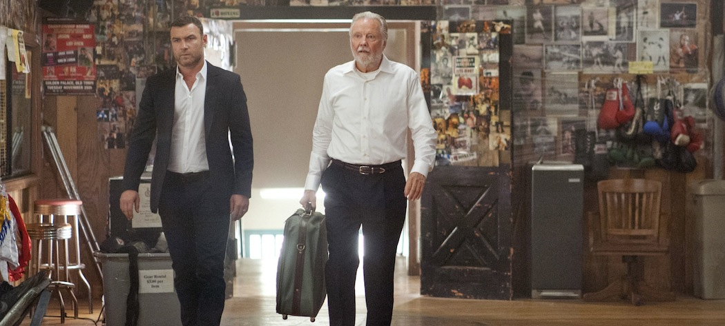 "Liev Schreiber and Jon Voight in ""Ray Donovan."" (Suzanne Tenner/Showtime/AP)"