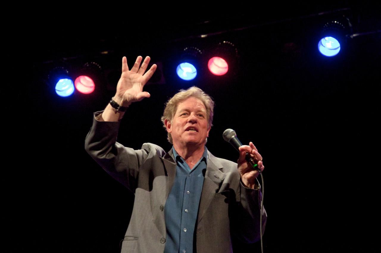 Jimmy Tingle performs onstage. (Courtesy Jimmy Tingle)