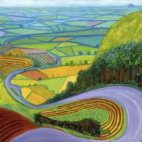"""""""Garrowby Hill"""" by David Hockney on display during Martin Luther King Jr. Day Open House at the Museum of Fine Arts, Boston. (Courtesy MFA)"""