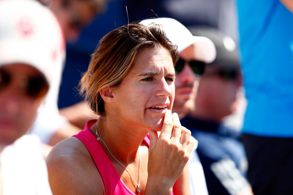 Amelie Mauresmo began coaching Andy Murray in June 2014. (Julian Finney/Getty Images)