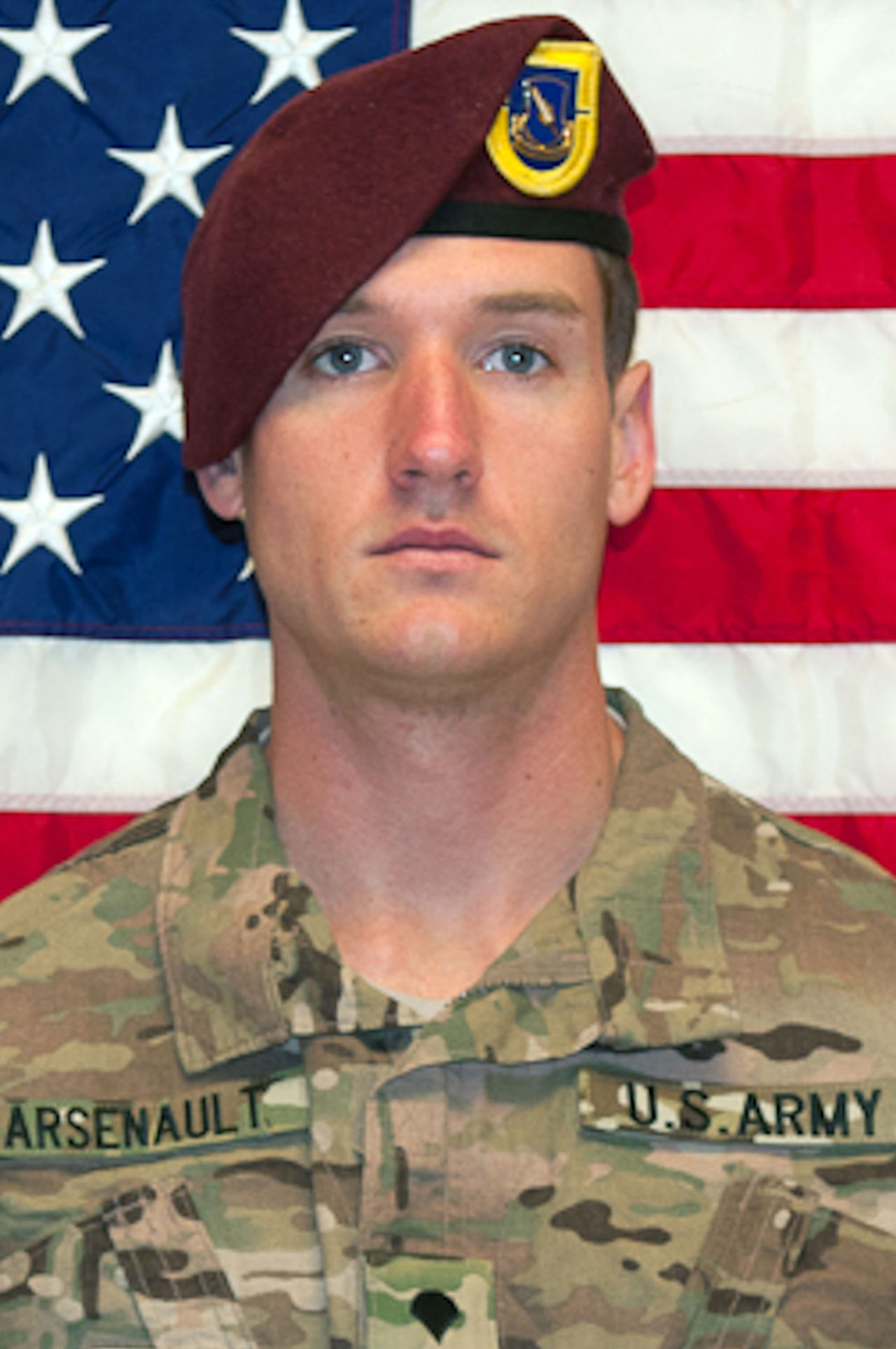 This photo provided by the U.S. Army shows Spc. Brian Arsenault. (Jonathan A. Shaw, U.S. Army/AP)