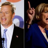 "John Sivolella: ""Baker's camp has dared the other side to engage in debate and to get specific. The electorate will soon find out if the Coakley campaign accepts the challenge."" Pictured: Republican Charlie Baker, left, and Democrat Martha Coakley (Stephan Savoia/AP, Jesse Costa/WBUR)"
