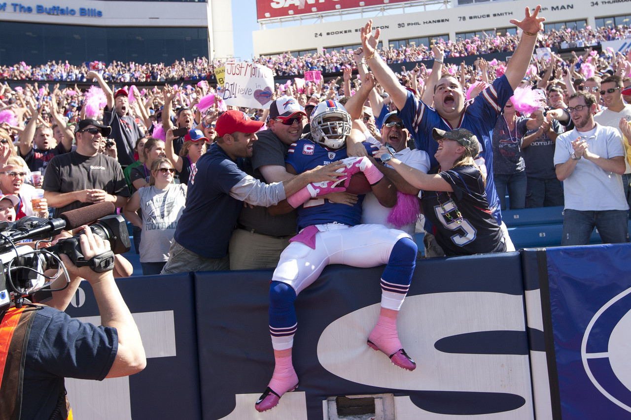 Fans in Buffalo will be able to hang onto their team thanks to new owners Terry and Kim Pegula.  (Brody Wheeler/Getty Images)