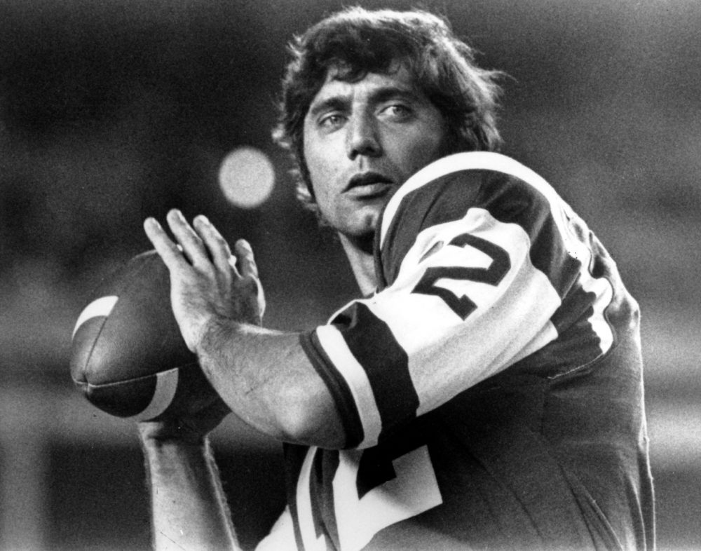 New York Jets quarterback Joe Namath was one of the NFL's first true stars in popular culture. (