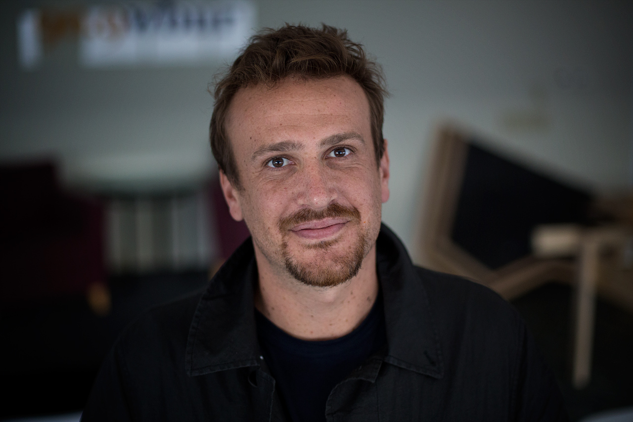 Actor, screenwriter and author Jason Segel in WBUR's studios. (Jesse Costa/WBUR)