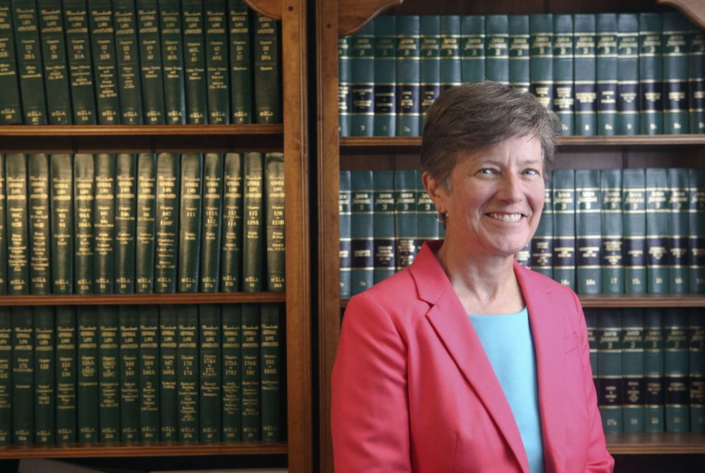 Civil rights attorney Mary Bonauto, the Civil Rights Project director at Gay & Lesbian Advocates & Defenders (GLAD), poses for a portrait in Boston. She is one of 21 people to receive a 'genius grant' from the MacArthur Foundation. (Courtesy of the John D. and Catherine T. MacArthur Foundation/AP)