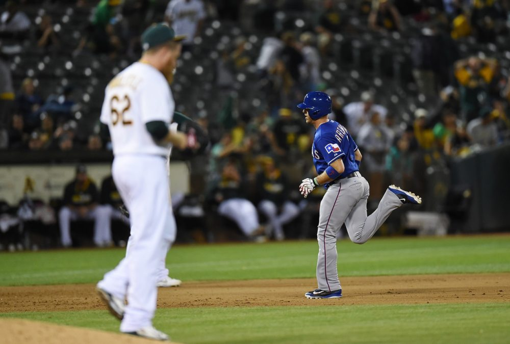 The Oakland A's had a five-game lead in the AL West but currently sit more than 10 games behind the LA Angels. (Thearon W. Enderson/Getty Images)