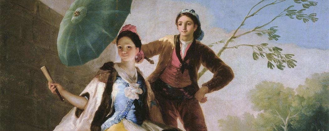 The Parasol by Francisco Goya y Lucientes (Spanish, 1746–1828). (Courtesy Museum of Fine Arts, Museo Nacional del Prado. Madrid)