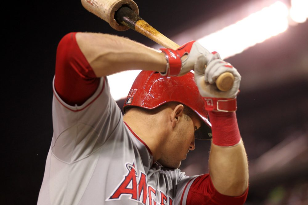 Superstar outfielder Mike Trout and the Los Angeles Angels have the best offense (and best record) in baseball. But will those regular season accomplishments guarantee postseason success? (Andy King/Getty Images)