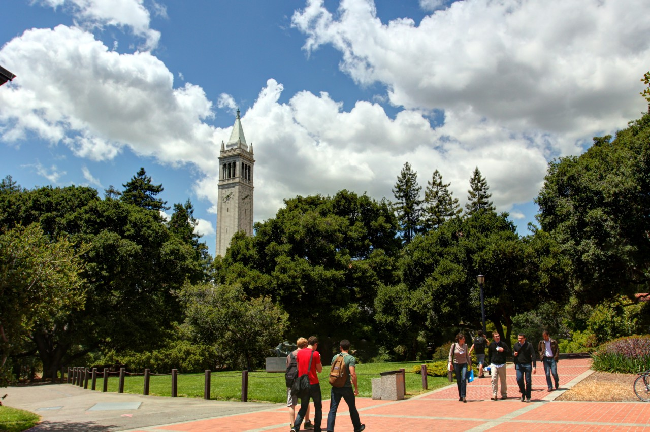 Students walk on campus at University of California at Berkeley. The UC system recently issued policy recommendations on campus sexual assault. (johnmorgan/Flickr)