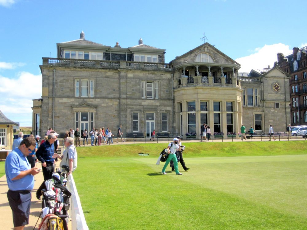 Women tee off right in front of the Royal and Ancient clubhouse all the time, but cannot enter even as a member of a guest. (Doug Tribou/Only A Game)
