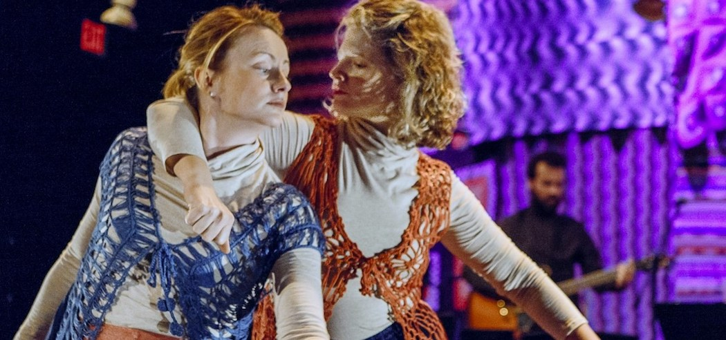 """Courtney Greer and Carson Efird in """"I Wish You'd Keep Still,"""" a dance inspired by Tennessee Williams characters.  (Olivia Hemaratanator)"""