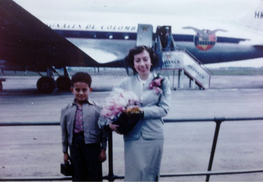 Cecilia Quiros leaves Colombia for the United States with her eight-year-old son. (Courtesy of the family)
