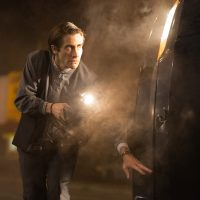 "Pictured here is Jake Gyllenhaal in a scene from the film, ""Nightcrawler"" which was screened at the Toronto International Film Festival  (Open Road Films via AP)"