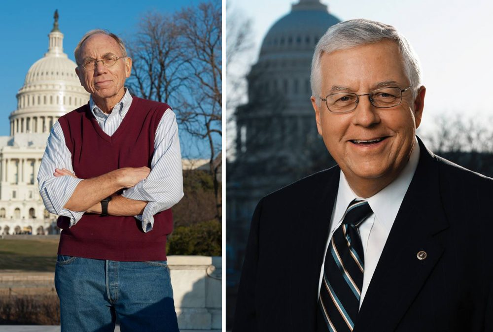 Charlie Hardy (L) is challenging incumbent Senator Mike Enzi in Wyoming. (Charlie Hardy/Facebook; Mike Enzi/Facebook)