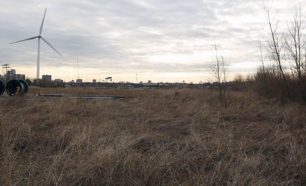 The site of a former chemical plant in Everett where Steve Wynn is planing to develop a casino is seen in 2012. (Bizuayehu Tesfaye/AP)
