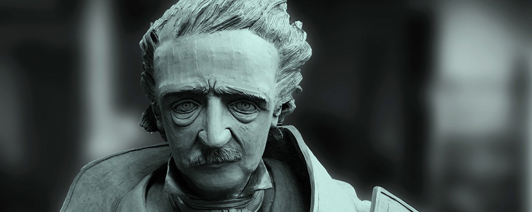 A sculpture of Edgar Allan Poe (Courtesy Stefanie Rocknak)