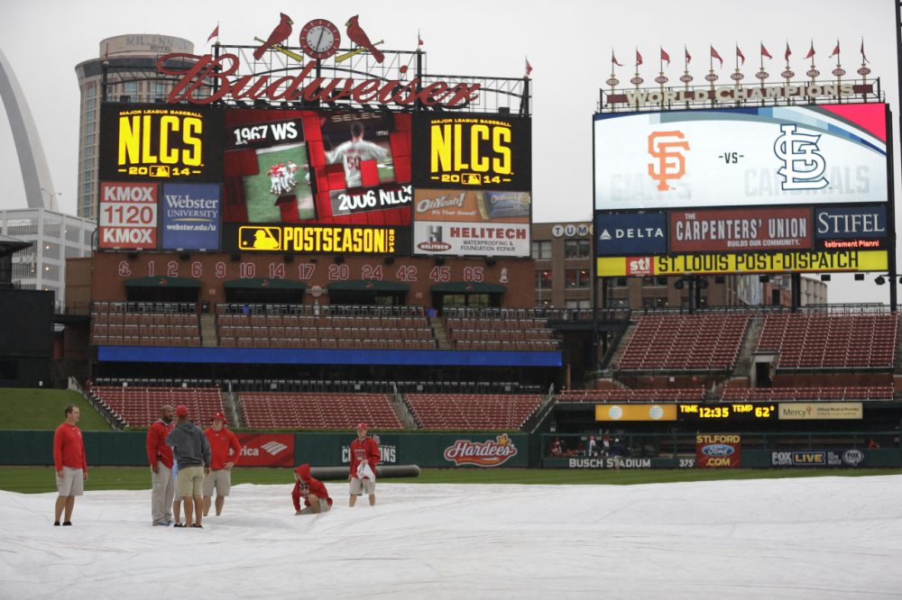 The St. Louis Cardinals have home-field advantage in the seven game series, which begins Saturday. (Jeff Roberson/AP)