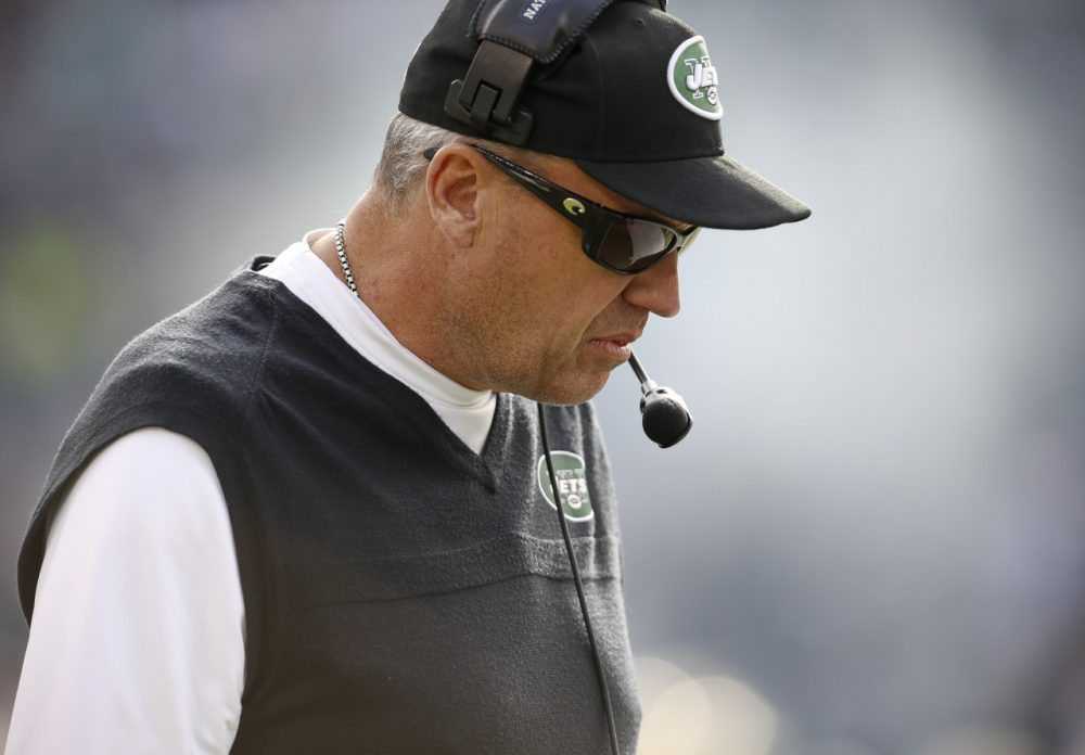 Rex Ryan knows his days as Jets head coach could be numbered. (Jeff Zelevansky/Getty Images)