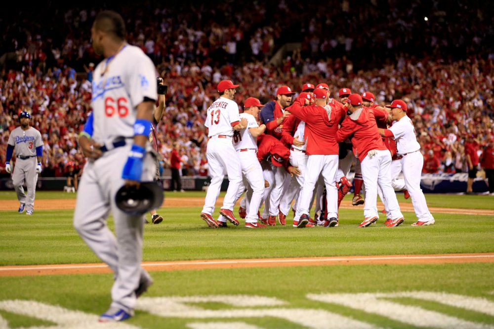 The St. Louis Cardinals are back in the National League Championship Series after beating Yasiel Puig and the Los Angeles Dodgers in four games. (Jamie Squire/Getty Images)