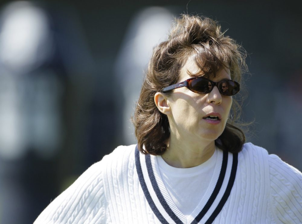 """Former Oakland Raiders CEO Amy Trask is one of """"We Need To Talk's"""" 12 commentators. (Eric Risberg/AP)"""