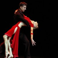 A couple performing the Argentine tango at the Mesa Arts Center.(Garry Wilmore/Flickr)