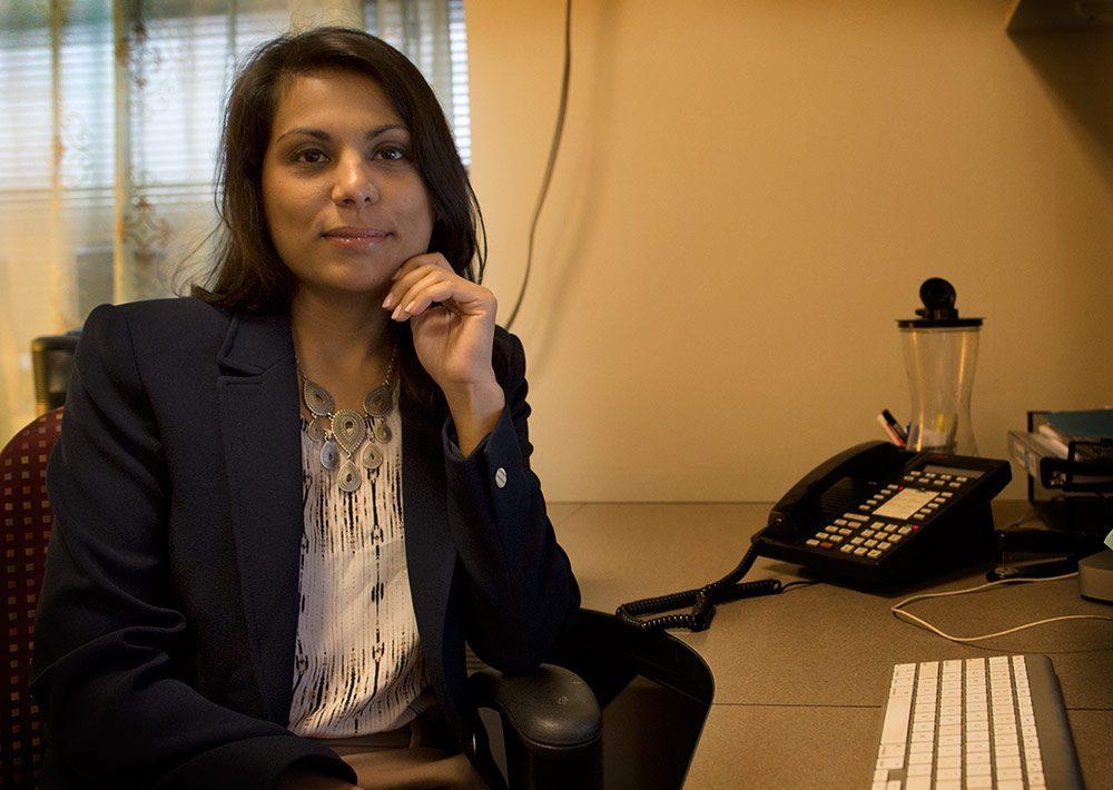 Dr. Nahid Bhadelia, back in Boston (Robin Lubbock/WBUR)
