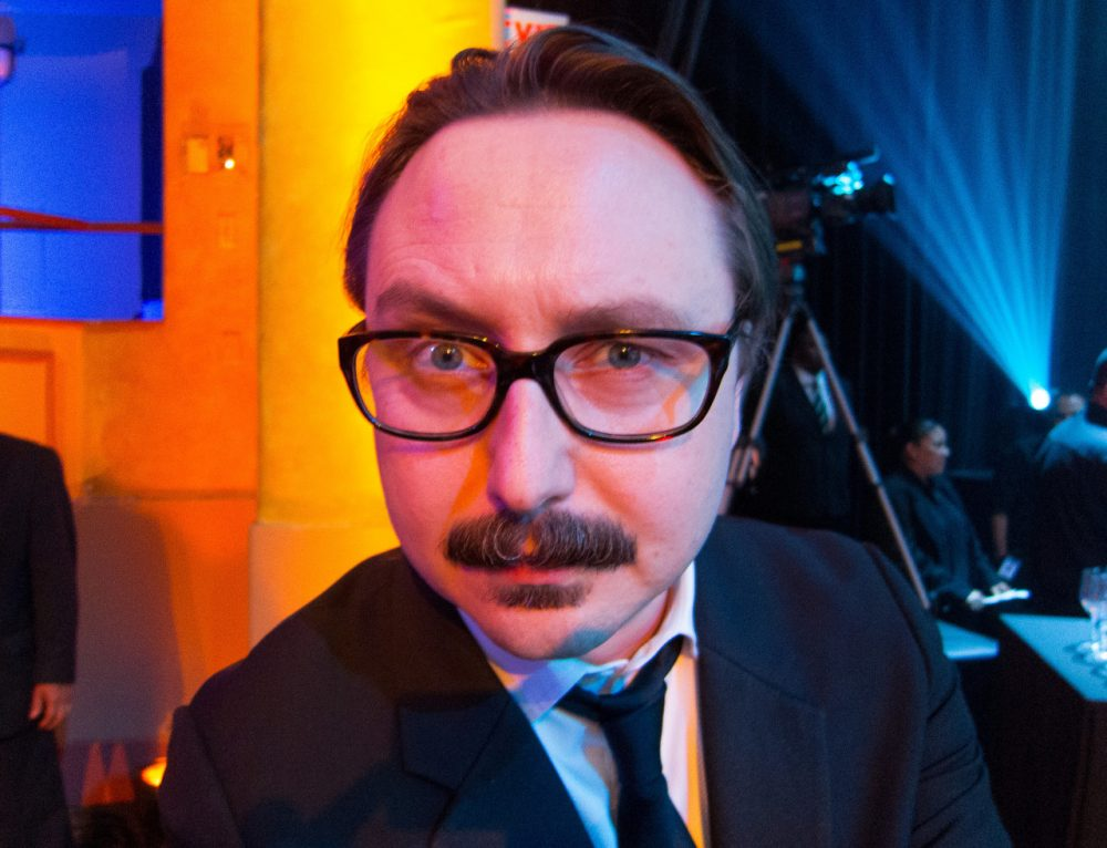 "Comedian John Hodgman is coming back to Massachusetts in November to perform his one-man show ""I Stole Your Dad"" at the Academy of Music Theatre in Northampton. (Courtesy Scott Beale/Laughing Squid)"