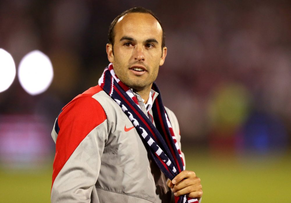 Long a mainstay for the U.S. Men's soccer team, Landon Donovan has donned the red, white, and blue for the last time. (Mike Lawrie/Getty Images)