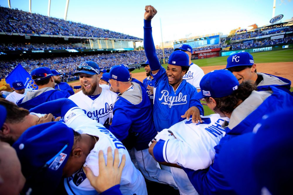 The Kansas City Royals are going to the World Series for the first time since 1985, but Only A Game analyst Charlie Pierce thinks their ride is coming to an end. (Jamie Squire/Getty Images)