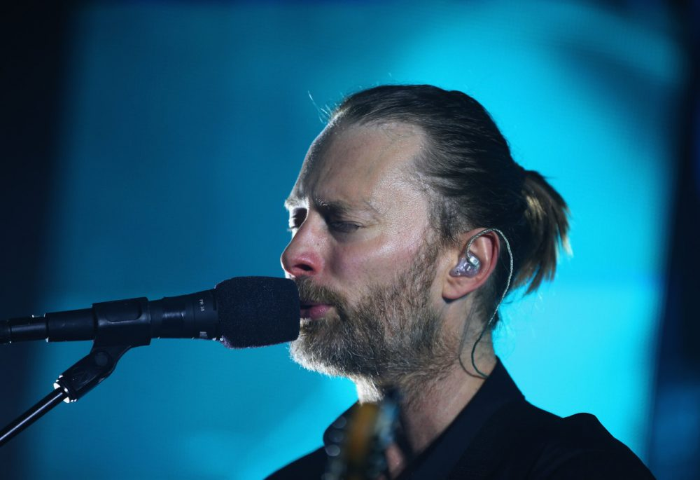 Thom Yorke of Radiohead performs at Vector Arena on November 6, 2012 in Auckland, New Zealand.  (Phil Walter/Getty Images)