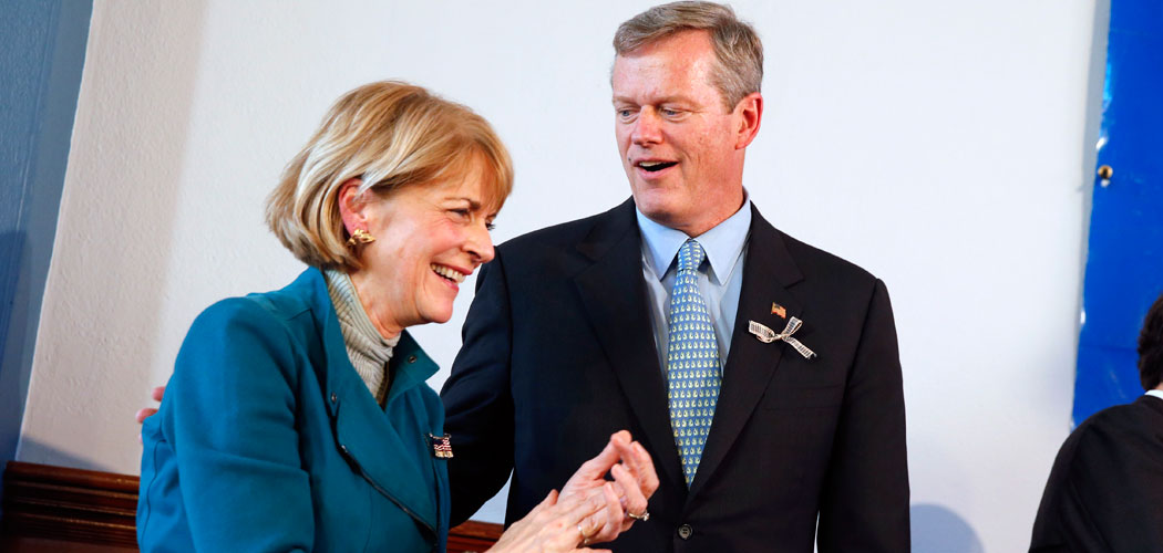 Democrat Martha Coakley and Republican Charlie Baker (Michael Dwyer/AP)