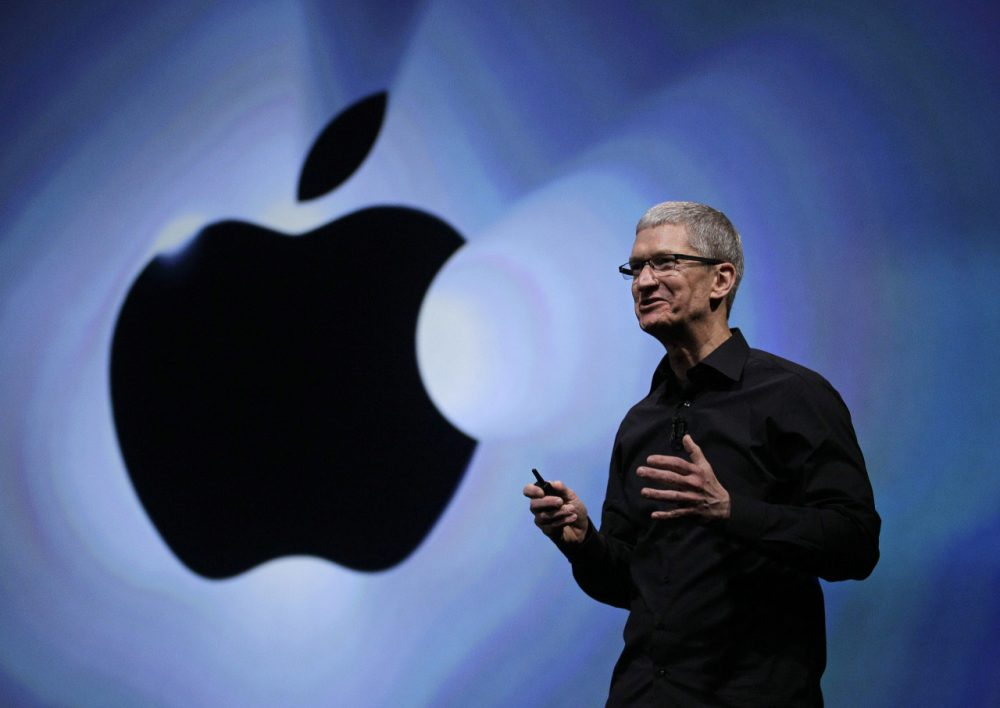 Apple CEO Tim Cook speaks following an introduction of the new iPhone 5 in San Francisco, Wednesday, Sept. 12, 2012. (Eric Risberg/AP)