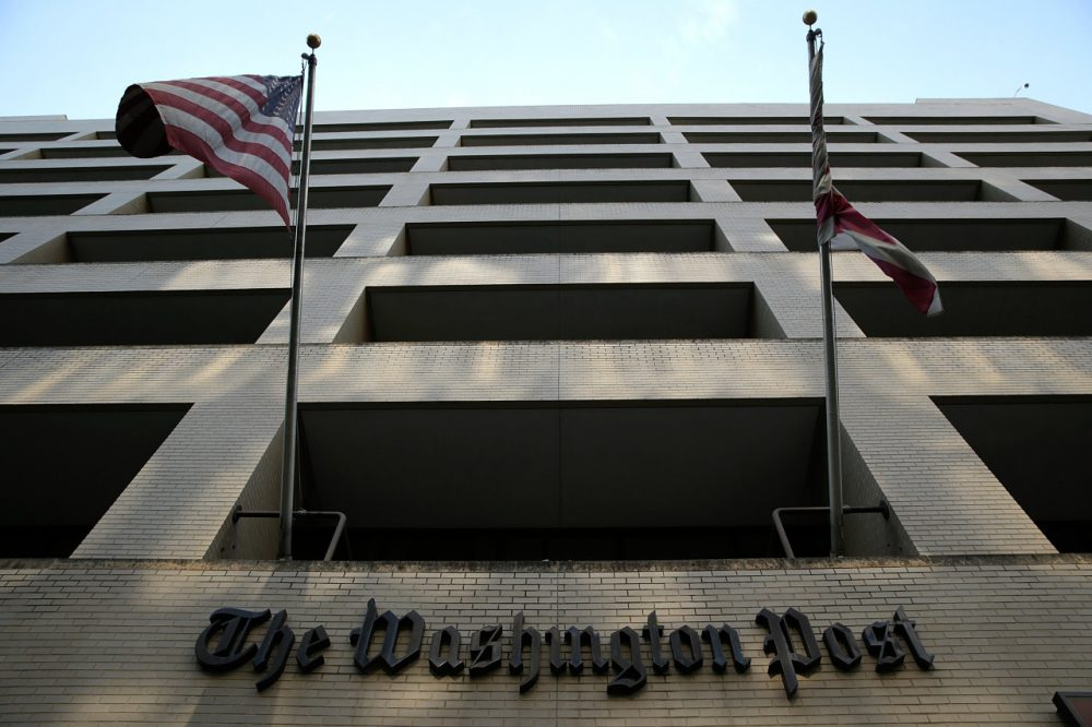 Pictured is the Washington Post building on August 5, 2013.  (Win McNamee/AFP/Getty Images)